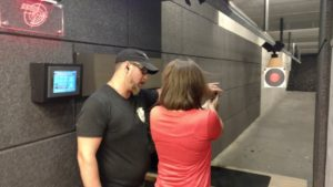 Lead Instructor Shawn Steiner with Steiner Academy of Firearms Training working with Attendee at Inner 10 Range.